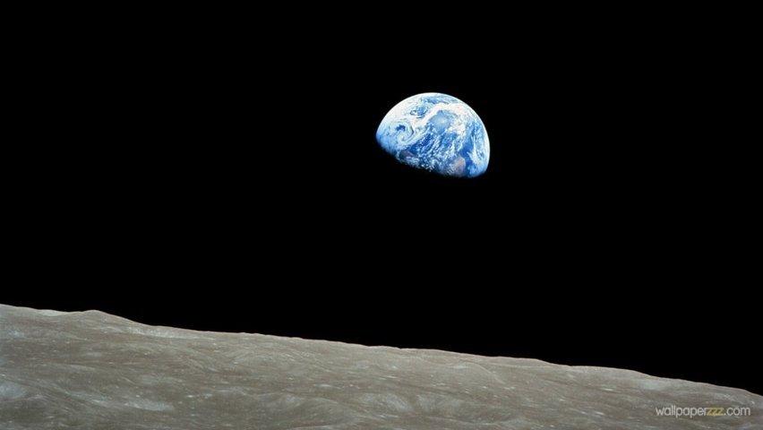 Download Earth From Moon HD Wallpaper Wallpaper 852x480