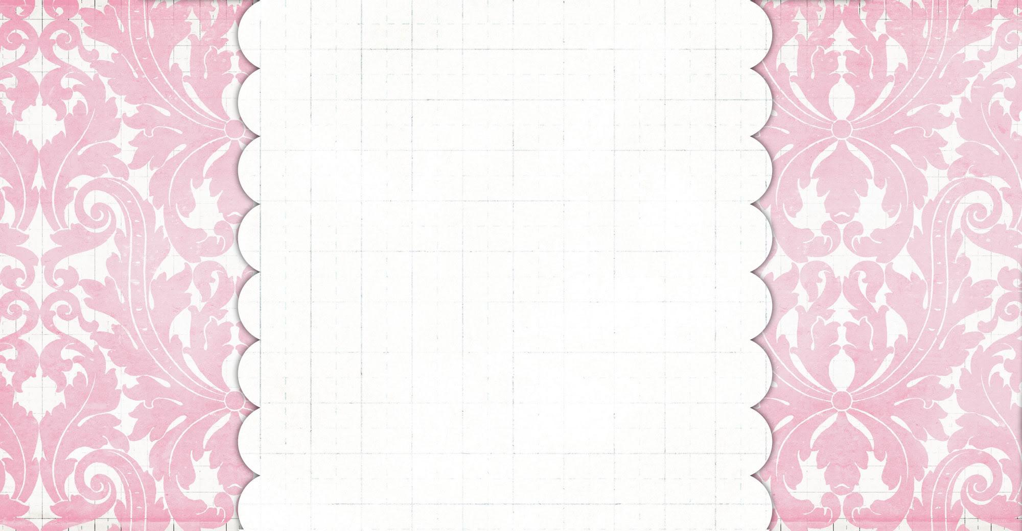 Damask Pink Blog Background 2000x1040