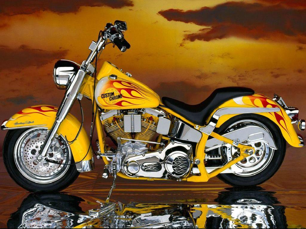 Download wallpaper motor harley davidson 1024x768