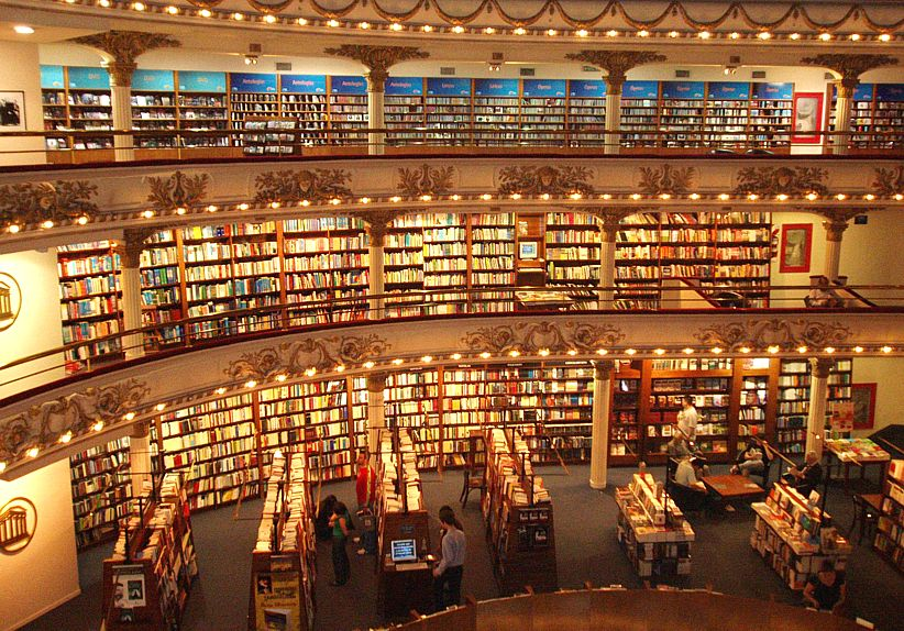 bookstore El Ateneo in Buenos Aires Photography by josephina 822x574