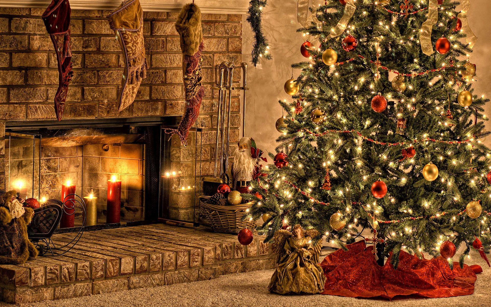 christmas night holiday hd wallpaper Wallpaper 1920x1200