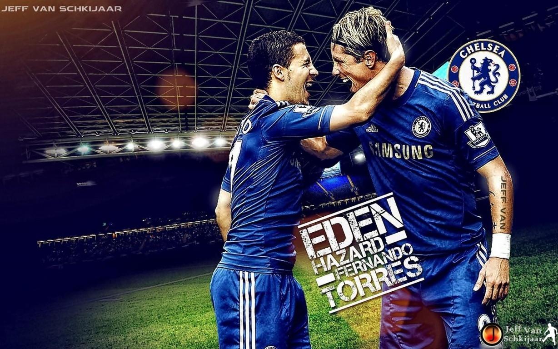 Eden Hazard and Fernando Torres Chelsea Wallpaper 2013 1228x768