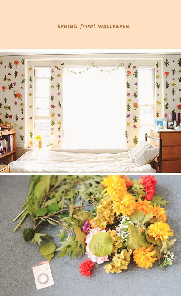 DIY Removable Floral wallpaper mi casa Pinterest 598x977