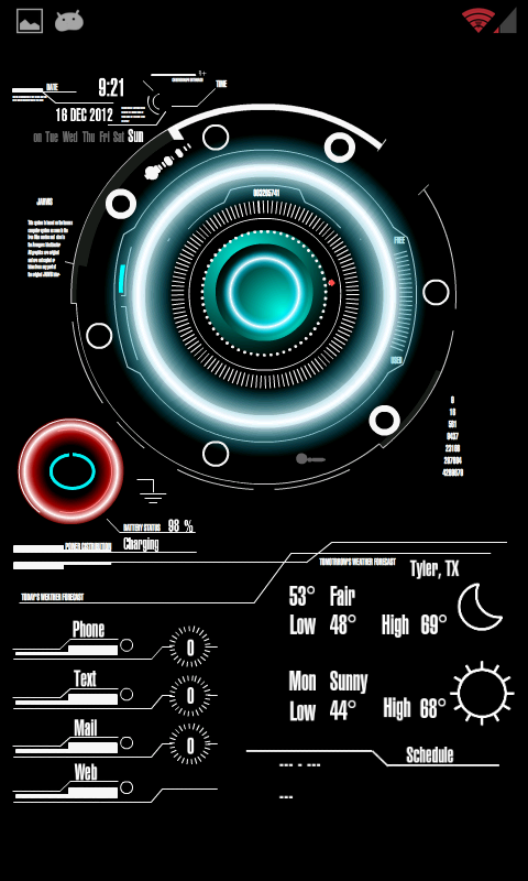 Jarvis Wallpaper Jarvis live wallpaper android 480x800