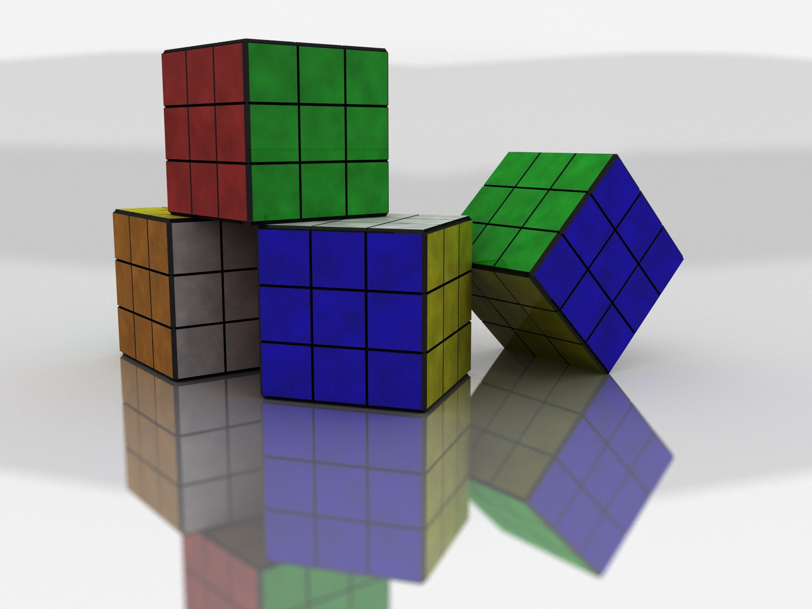 Backgrounds 3D Graphics Rubik cube Wallpapers 1600x1200 1600x1200