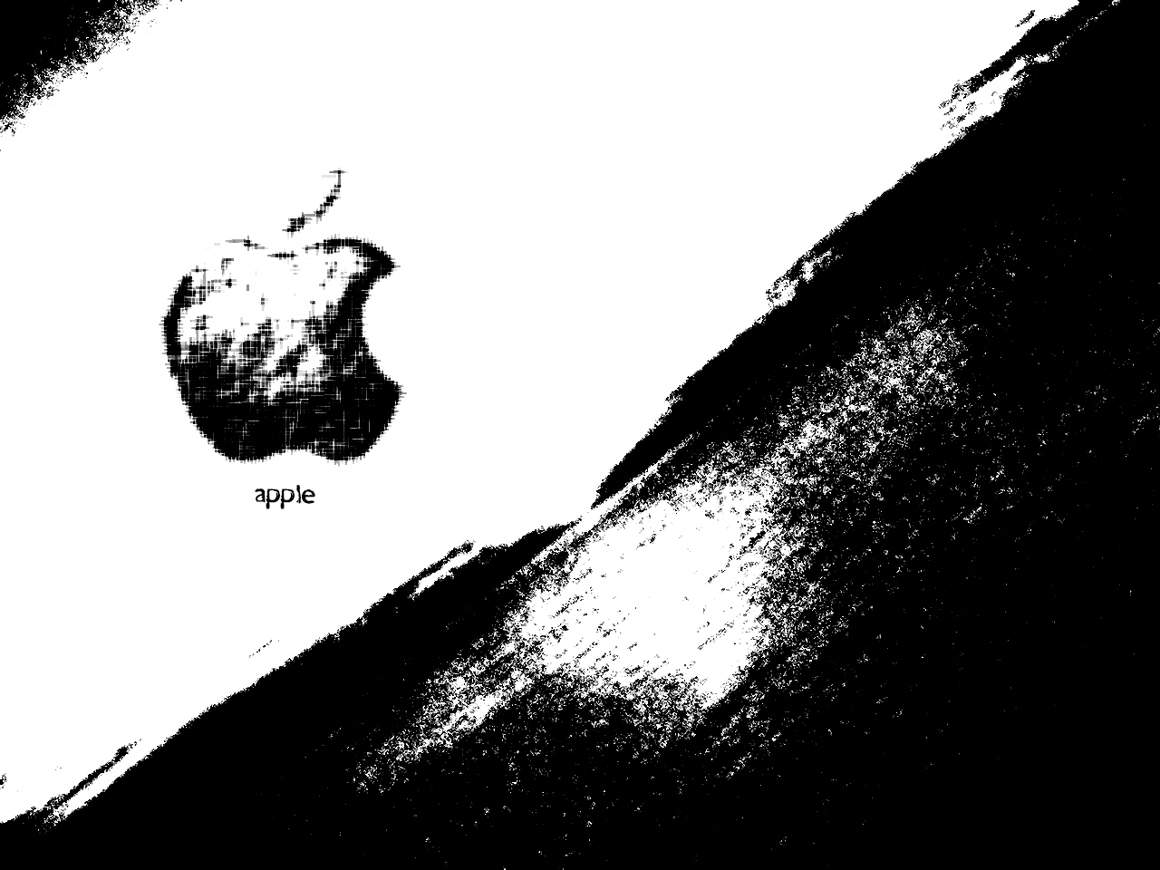 Apple Wallpapers Black And White Desktop For Apple Leopard On Mac 1280x960
