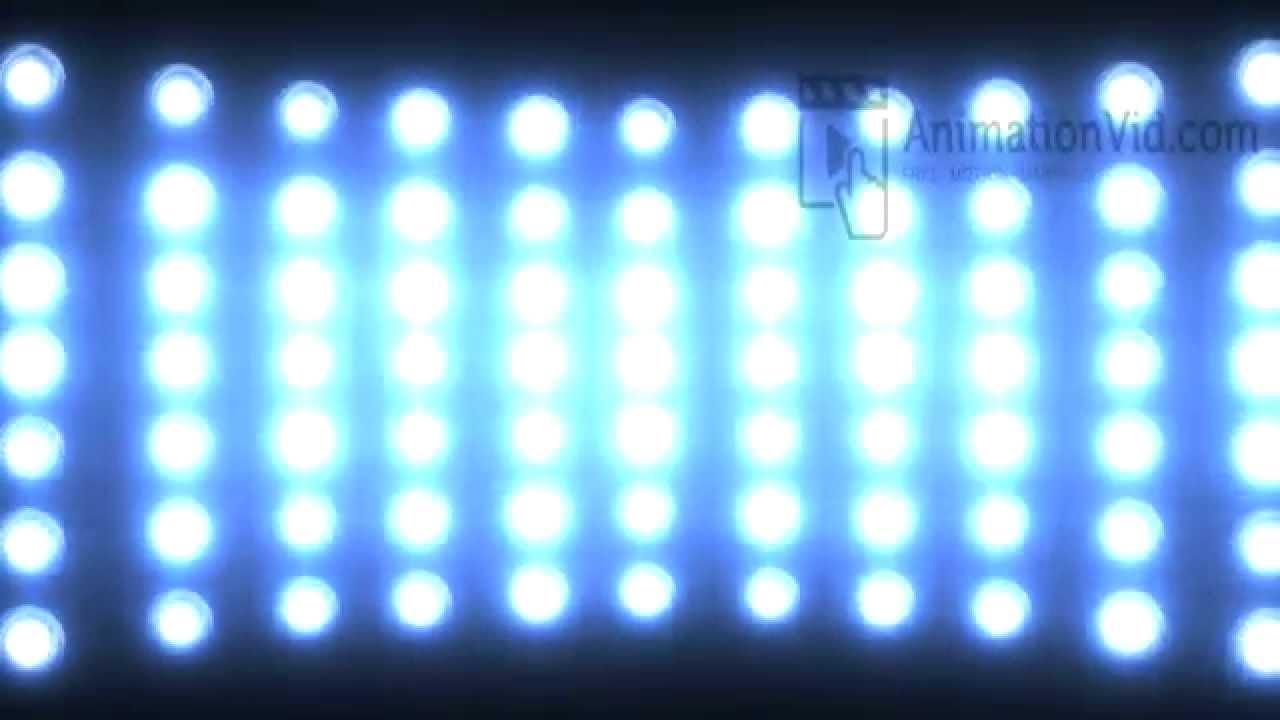Blinking Stadium Lights Animation Wallpaper 1280x720