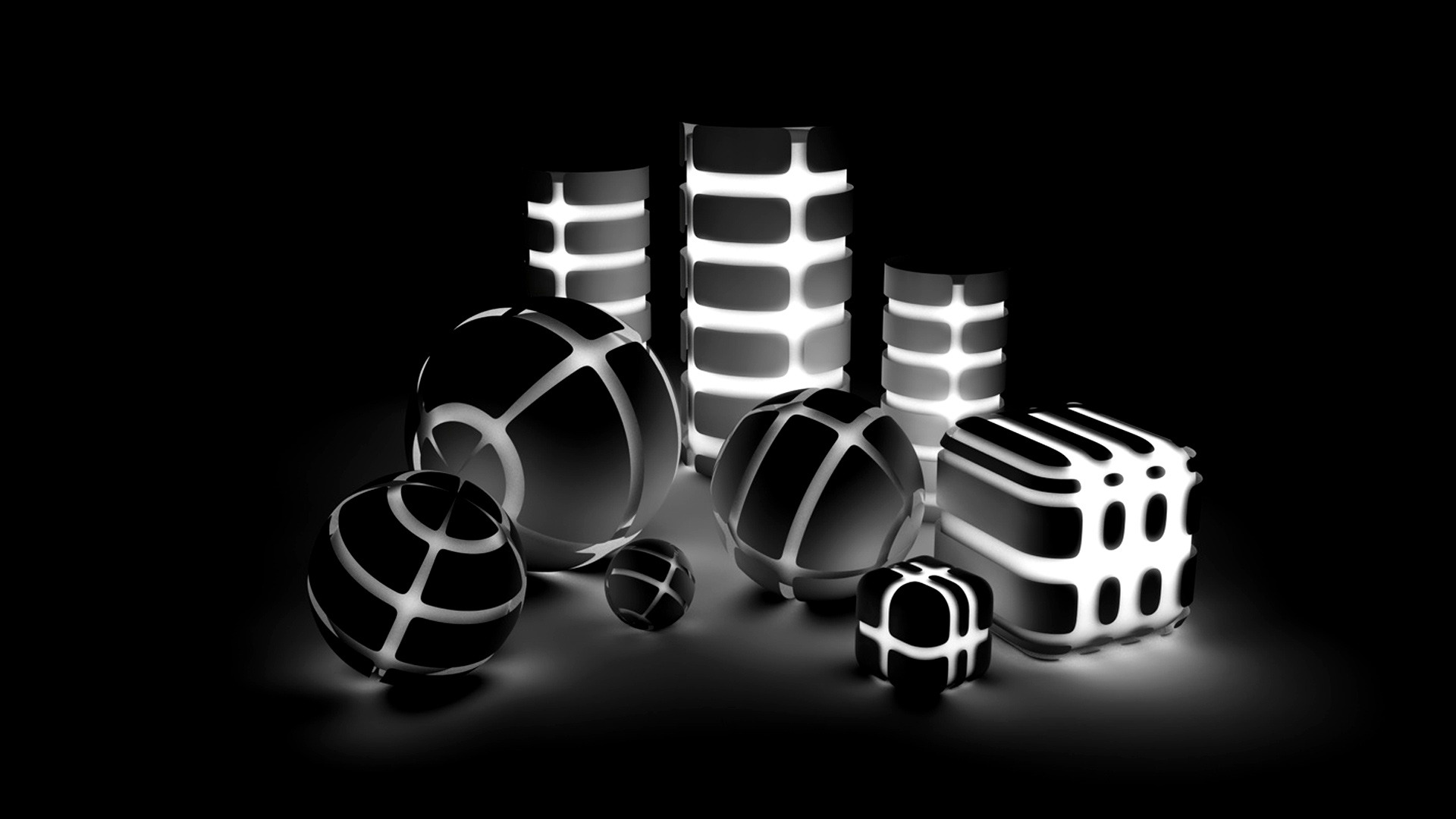 3D Wallpapers Black and White HD Wallpaper 3D Wallpapers Black and 1920x1080