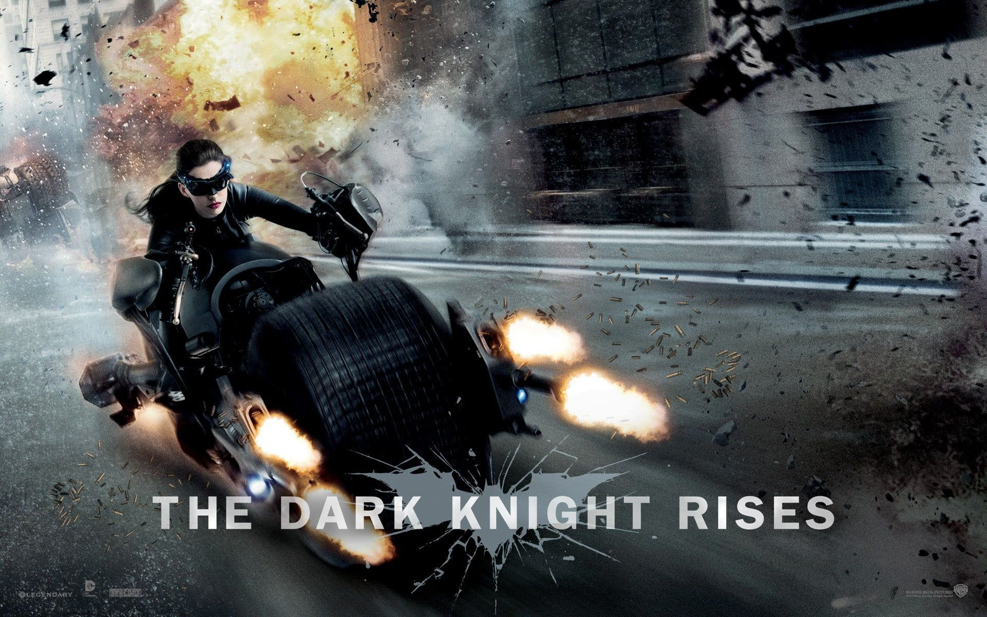 The Dark Knight Rises Catwoman Dc Comics Batpod Iphone 1920x1200