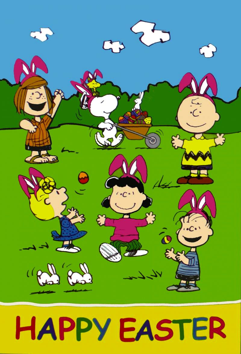 Easter Bunnies EVerywhere yummy food Charlie brown easter 800x1173