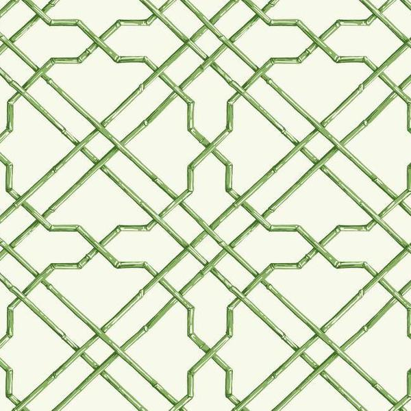 Bamboo Trellis Wallpaper in Green design by York Wallcoverings BURKE 600x600