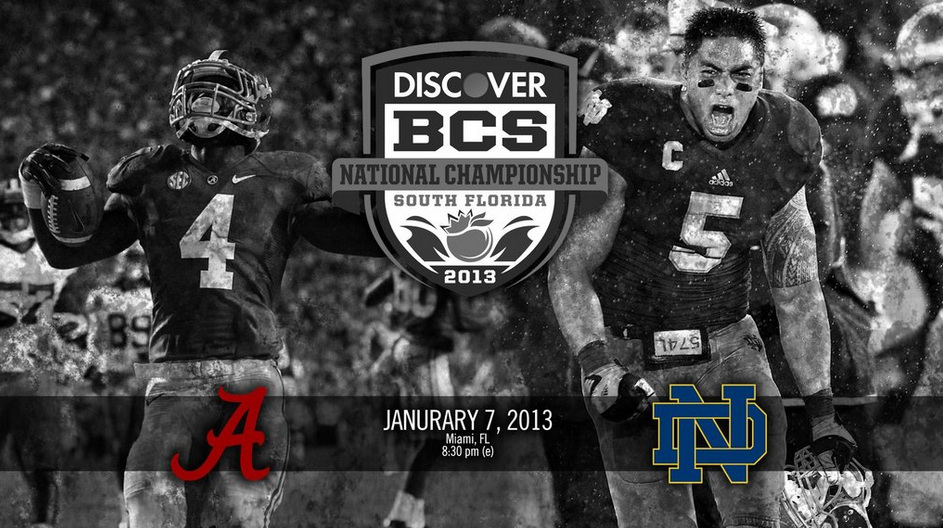 2013 BCS National Championship PosterWallpaper   Alabama vs Notre 943x528