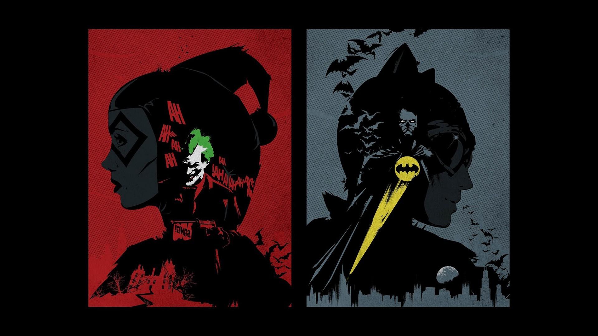 Free Download Dc Comics Batman Catwoman Harley Quinn Wallpapers Hd