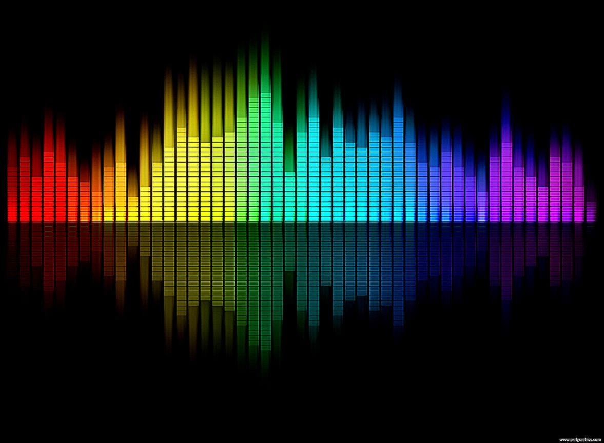 Full Color Music Background: Music Equalizer Wallpaper