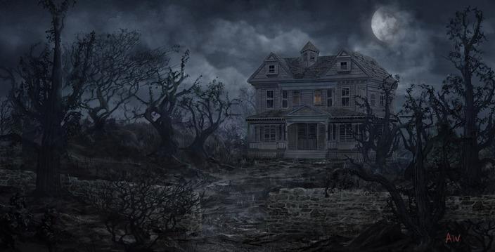 Spooky Haunted House Artworks Stockvaultnet Blog 704x359