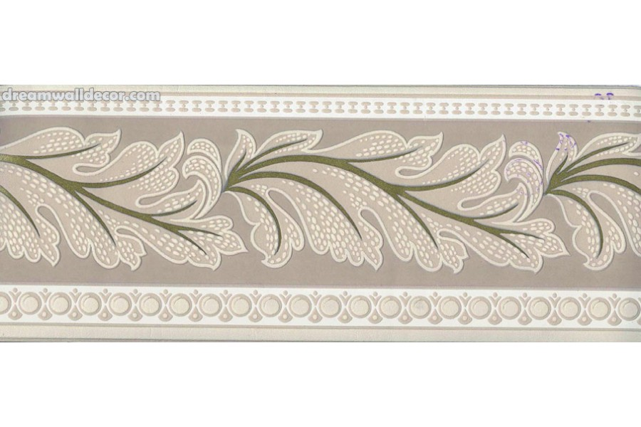 Brown Running Floral Wallpaper Border 900x600