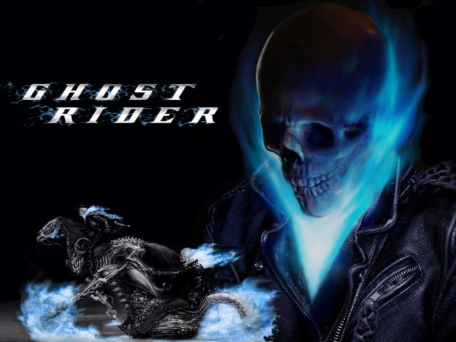 Ghost Rider Blue Skull Wallpaper 640x480