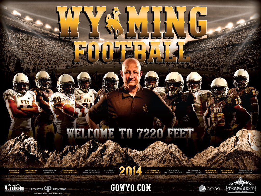 Wyoming Cowboys 2014 Football Schedule Poster 1024x768