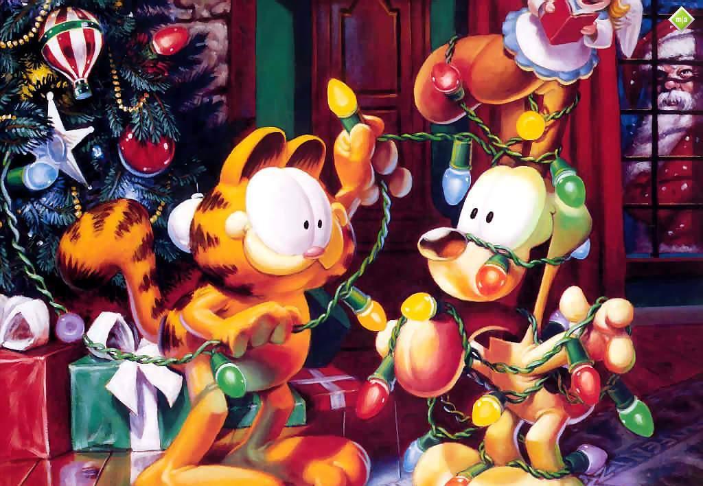 windowslisisoftcomGarfield Christmas Wallpaper 1024x708