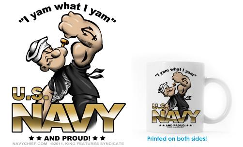 US Navy Popeye Coffee Mug 502x304