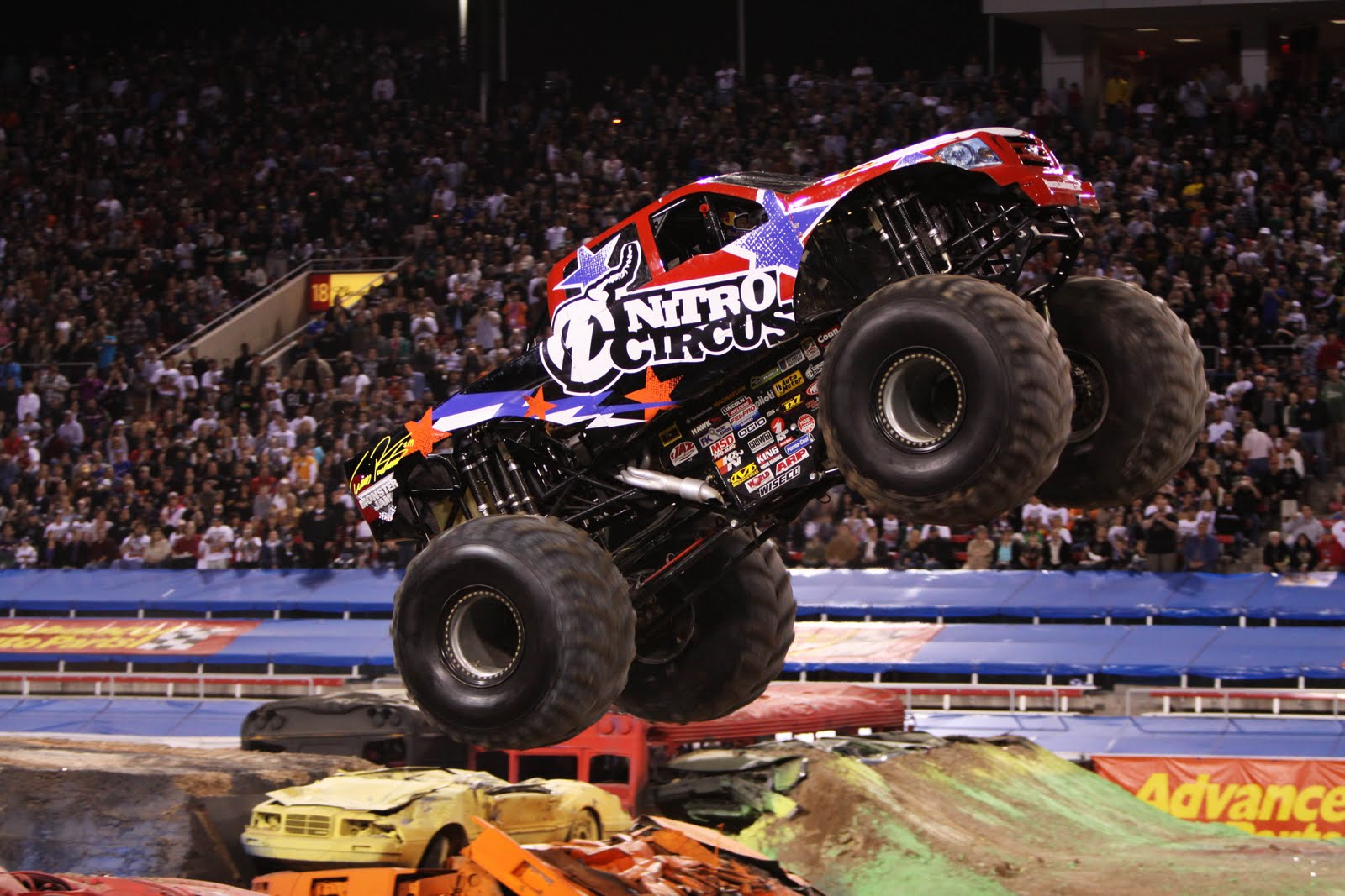 monster truck action backgrounds photo Car Wallpapers 1600x1067