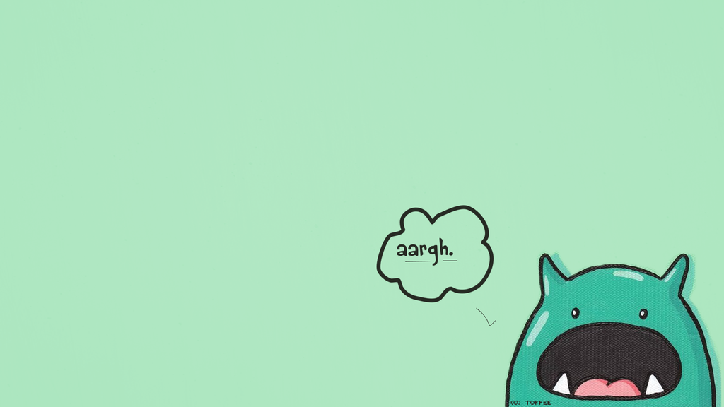 Wallpaper Cute Monster 3 by BlackToffee 1024x576