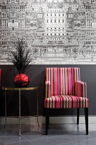 Fornasetti wallpaper used in Coop Creatives fitout for a legal firm 400x600