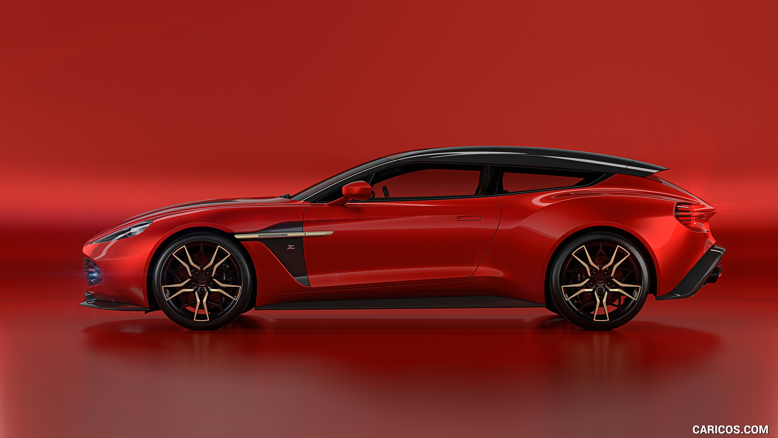 2018 Aston Martin Vanquish Zagato Shooting Brake   Side HD 2560x1440