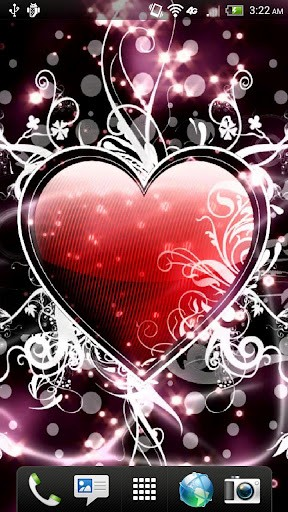 Live Sparkling Heart Wallpaper 288x512