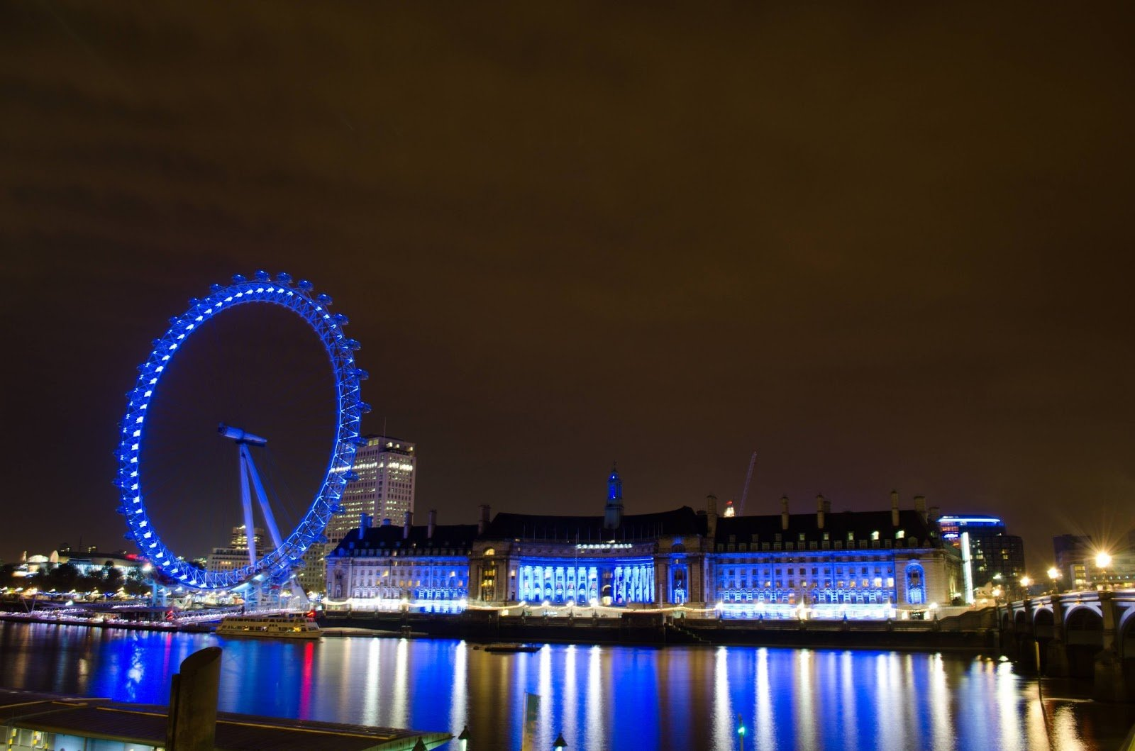 HD Wallpapers Fine london eyelondon eye night view high resolution 1600x1059