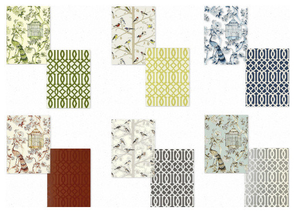Coordinating Wallpapers by F Schumacher   other metro   by TwentyOne7 596x430