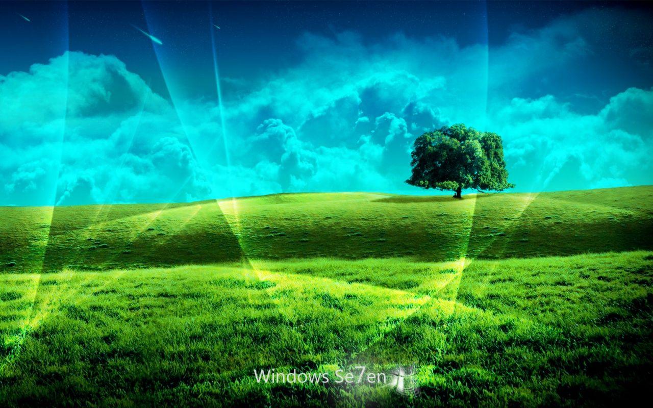 Windows 7 wallpapers HD win 7 desktop background grass1 Harley 1280x800