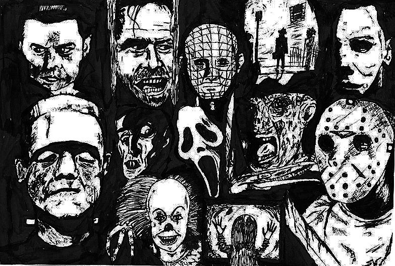 Horror Movie Icon Collage Horror icons by valashard 783x527