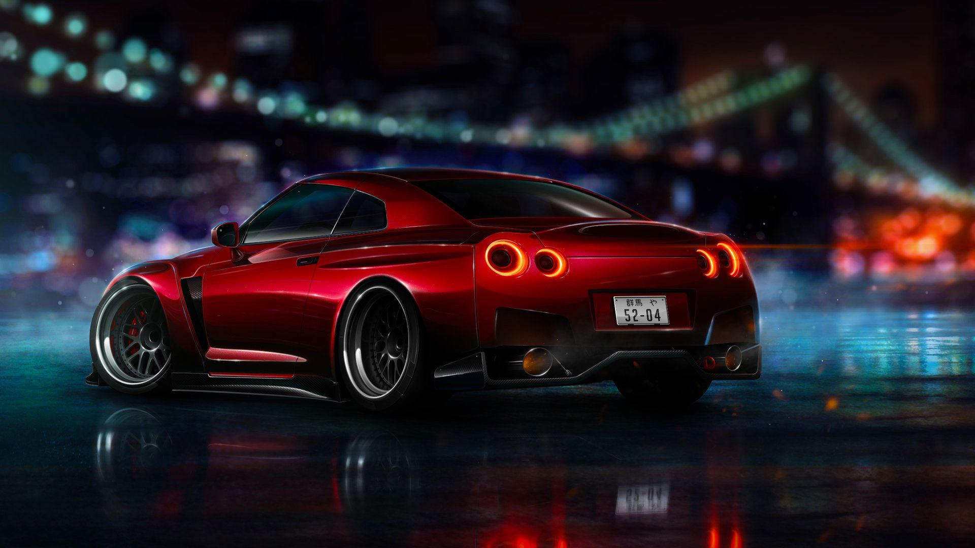 Nissan black style supercar wallpaper Gallery 1920x1080