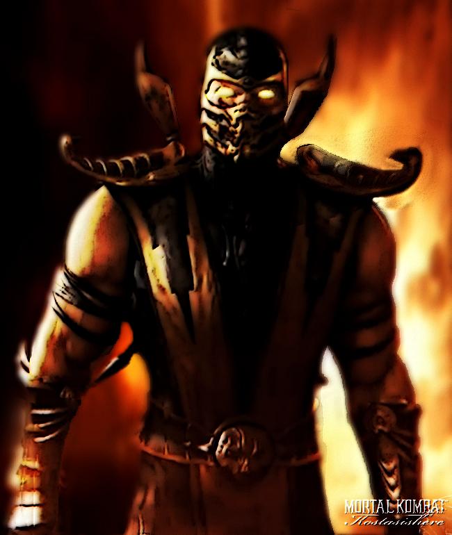 Scorpion Mortal Kombat 9 by kostasishere 650x770