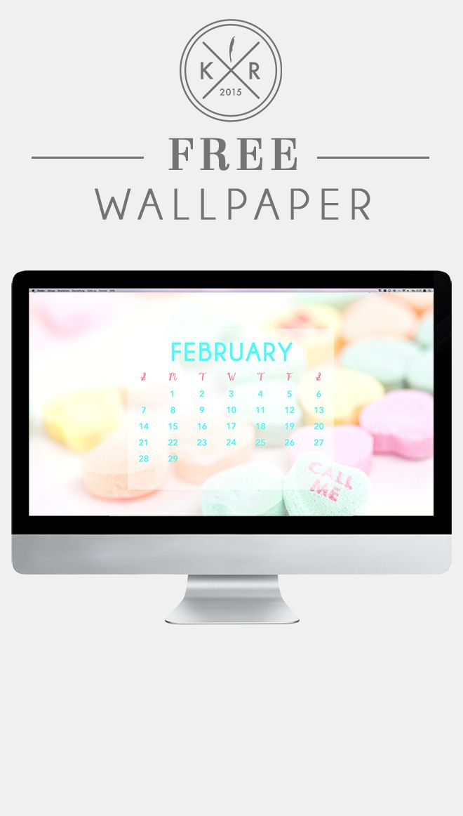 February candy heart pastel calendar on the blog for mobile and 660x1162