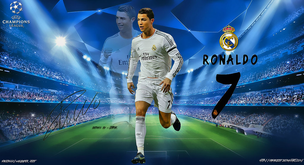 Cristiano Ronaldo Champions League Wallpaper by jafarjeef on 1024x557