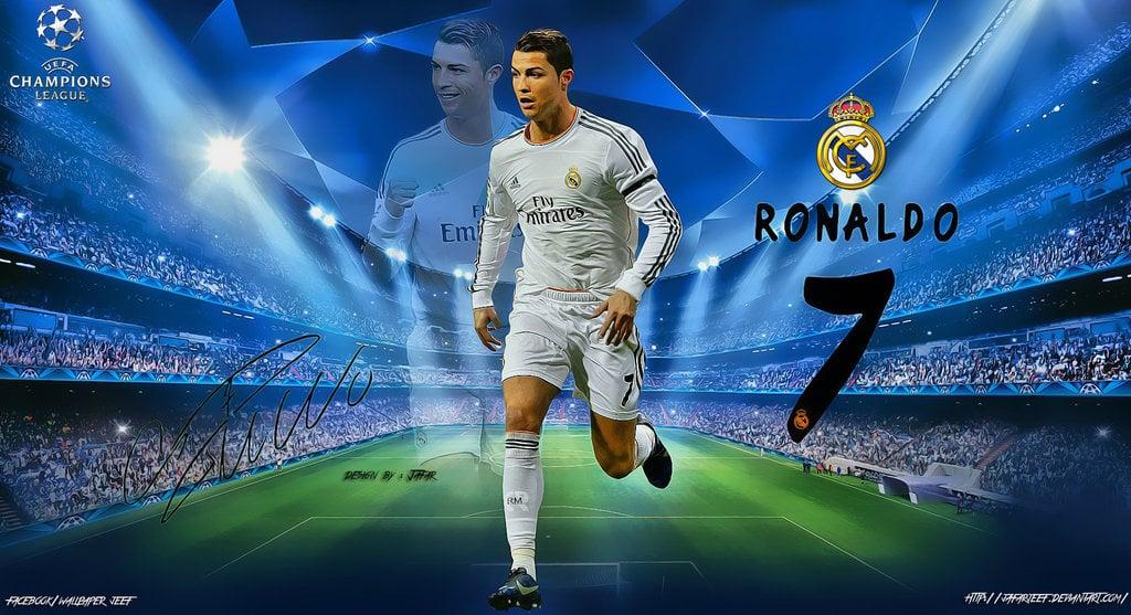 Cristiano Ronaldo Champions League Wallpaper by jafarjeef on 1024x557