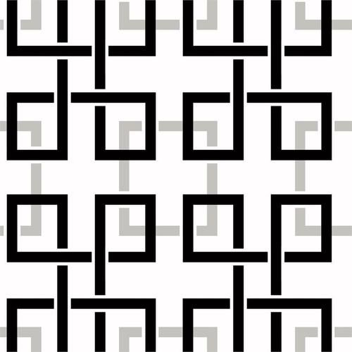 Black White Silver Modern Wallpaper Fretwork Geometric MG33151 eBay 500x500