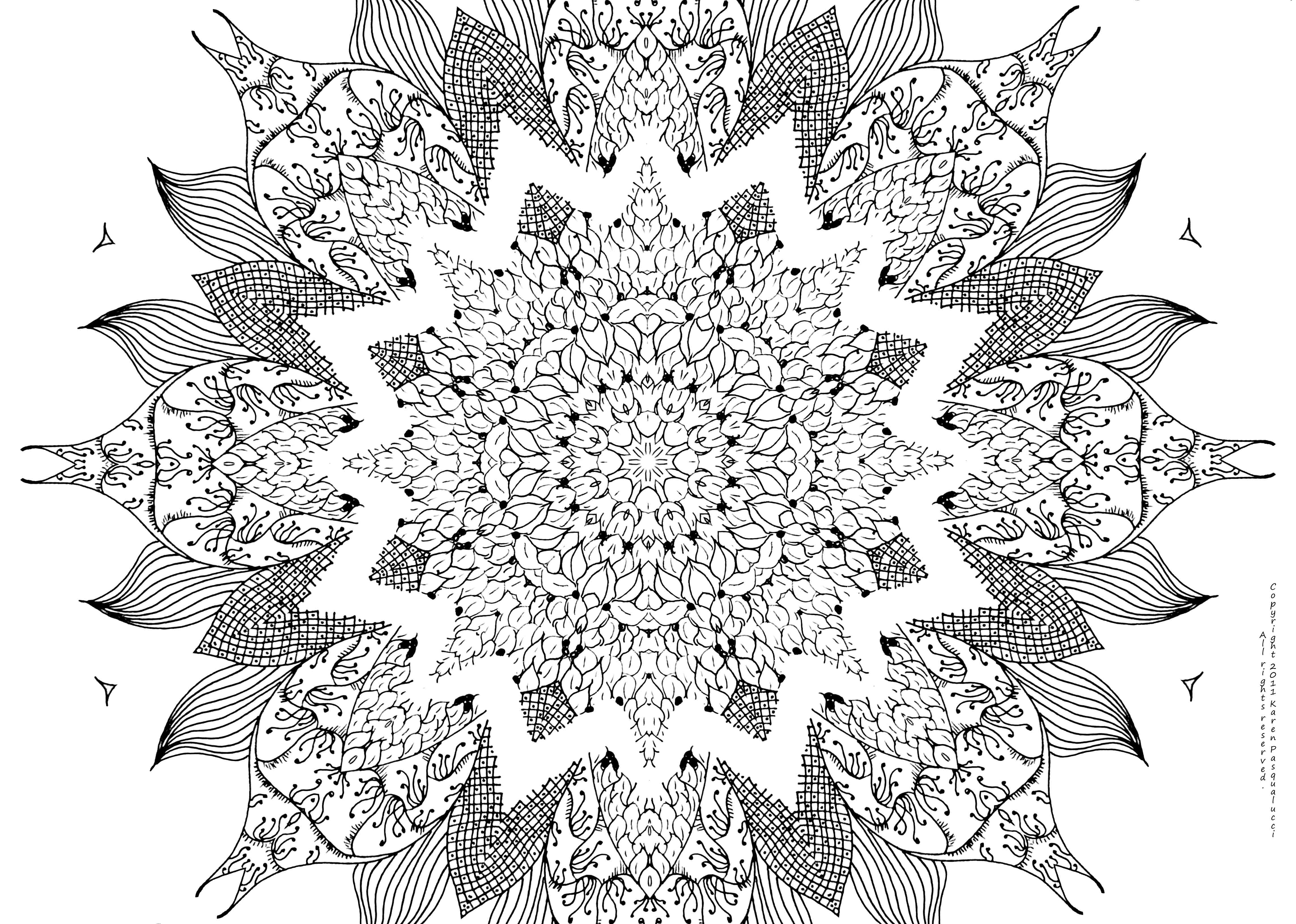 Stress relief coloring pages for kids - Advanced Mandala Coloring Pages Free Coloring Pages Images Pictures