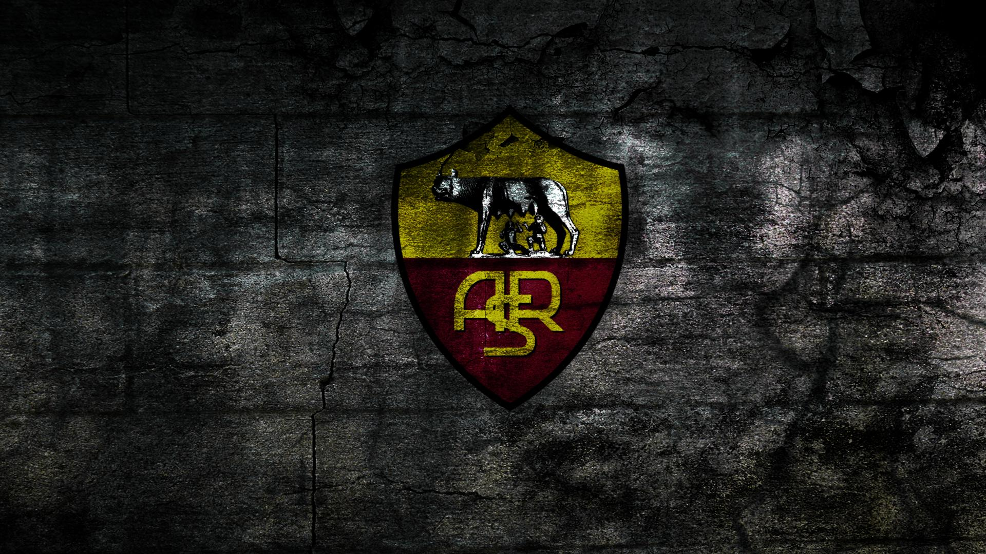 As Roma Logo Wallpaper Download 1920x1080