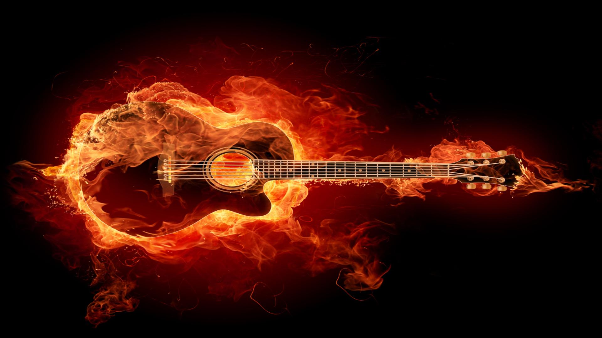 flames wallpaper guitar wallpapers ps3 1920x1080 1920x1080