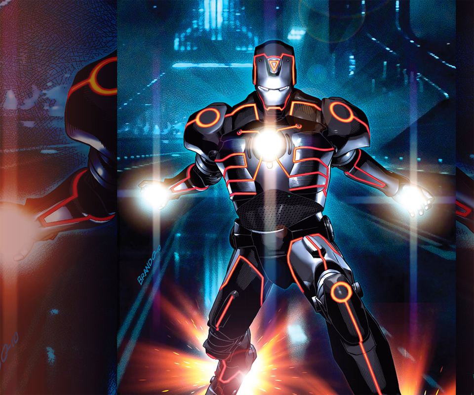 Invincible Iron Man Tron Variant Android Wallpapers 960x800 Cell Phone 960x800