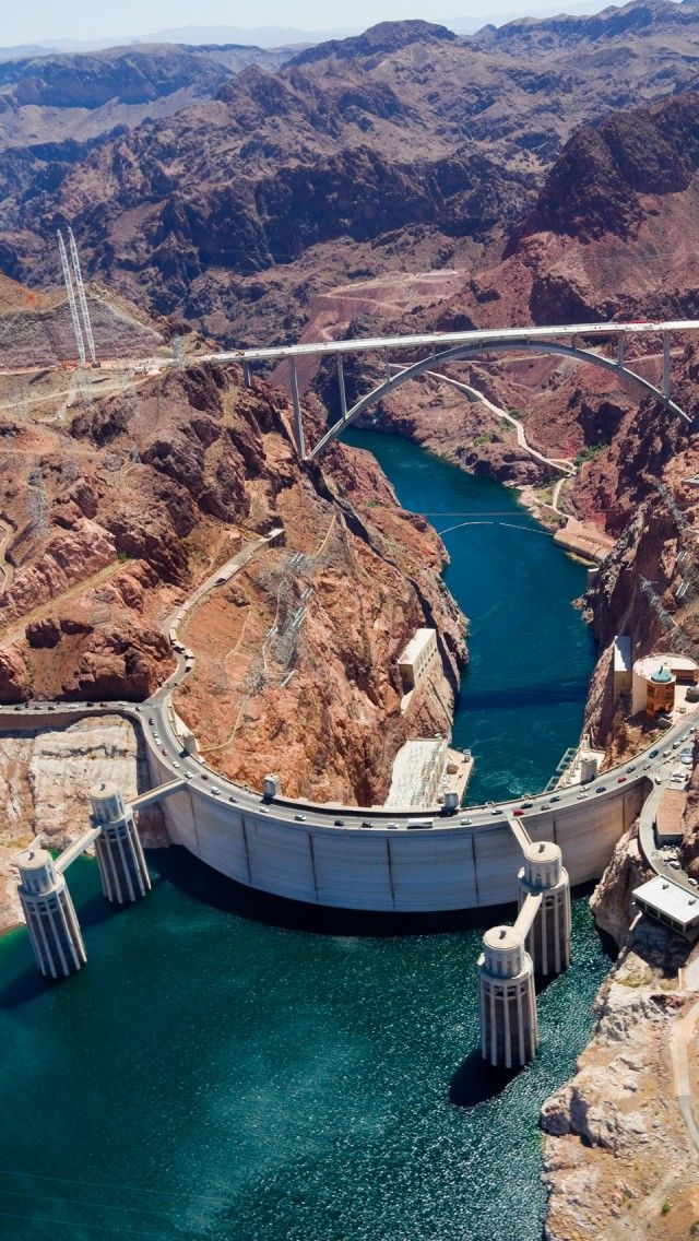Hoover Dam Lake Mead United States iPhone 5 wallpapers 640x1136
