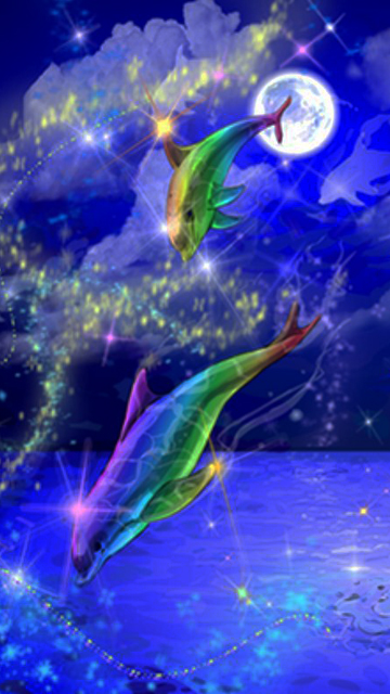 wallpaper Rainbow Dolphins download wallpapers for your 360x640