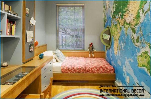teen boys room decorcool boys roommap wallpaper 601x393