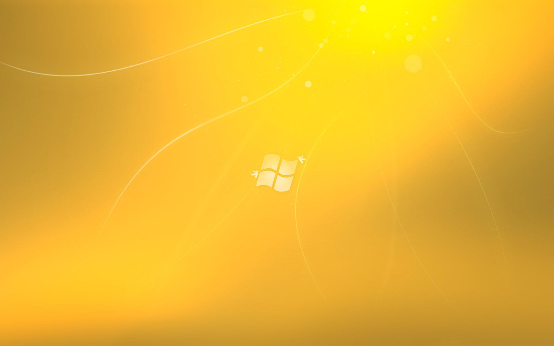 Window 7 HD Gold Yellow desktop wallpaper WallpaperPixel 1920x1200