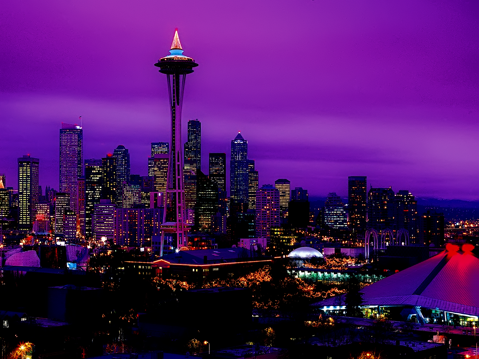 Seattle Night Skyline wallpaper Republicans Immigration and 1600x1200