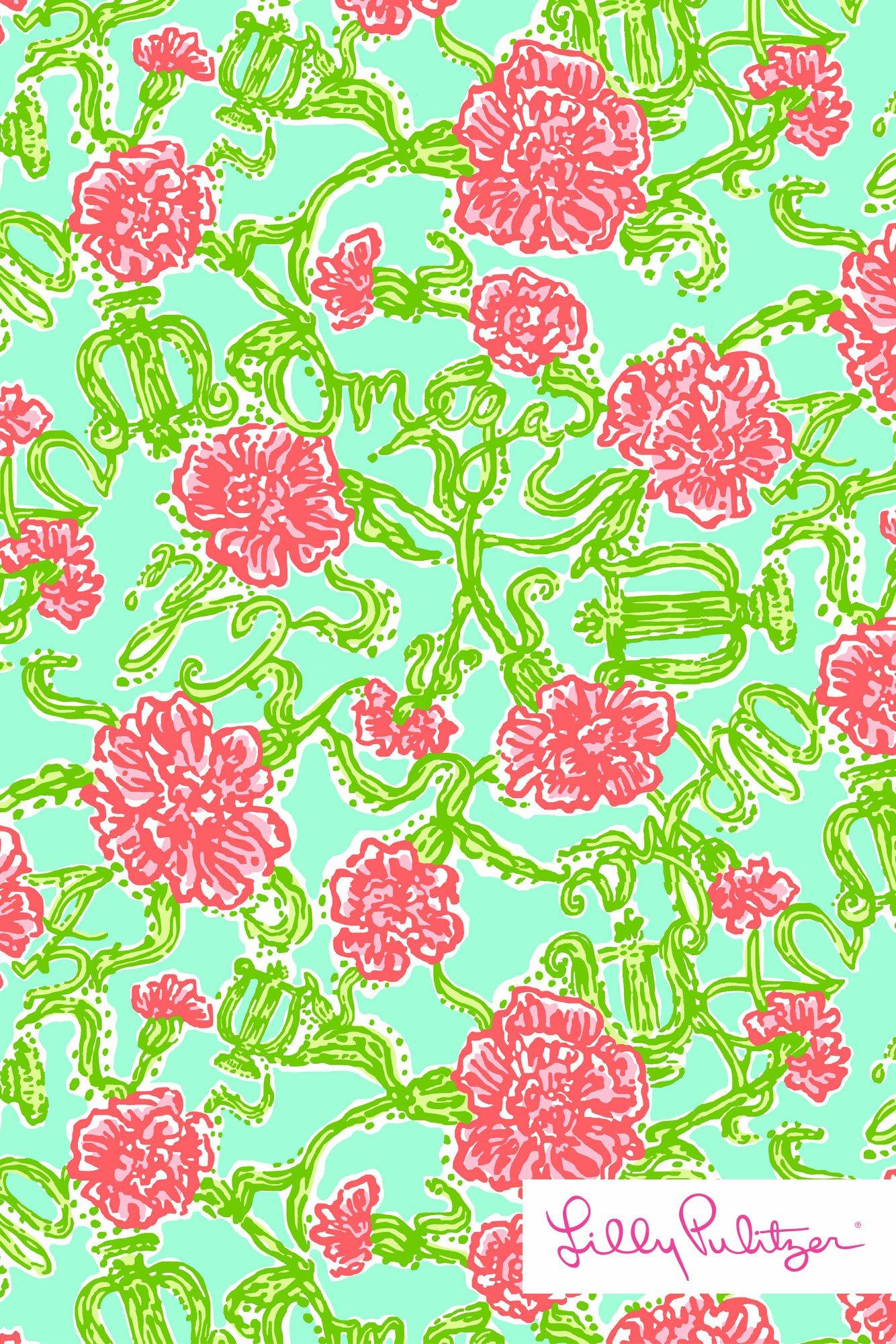 Lilly Pulitzer wallpaper AXO Alpha Chi Omega AdorePics 1334x2001