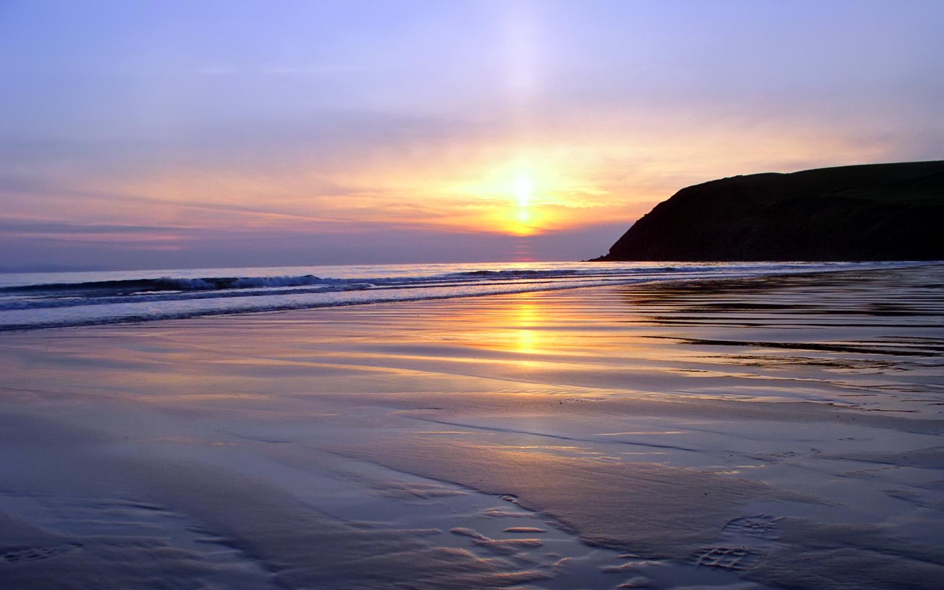 Beautiful Sunset Beach Wallpapers 19201200 127935 HD Wallpaper Res 1920x1200